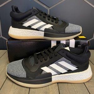Adidas Marquee Boost Low Black Gum Basketball Shoe